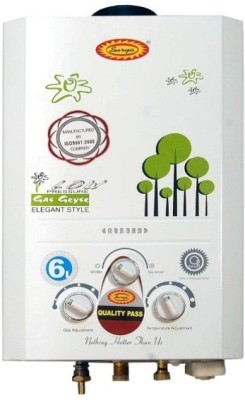 SURYA 6 L Instant Water Geyser (04, White)