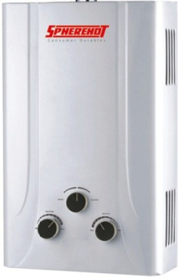 Spherehot 6 L Gas Water Geyser (Revera(LPG), White)