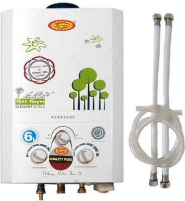 SURYA 6 L Instant Water Geyser (Gass Geyser, White)