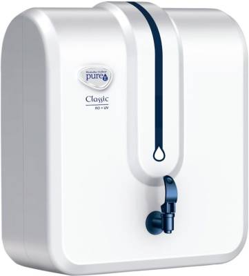 PUREIT Classic 5 L RO + UV Water Purifier (White)