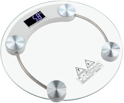 Gadget Hero's Digital Personal Bathroom Weighing Scale Machine 180 KG With Backlit LCD Display Weighing Scale(White)