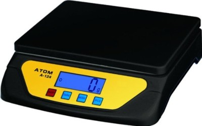 Atom Electronic compact 25 Kg Weighing Scale(Black)