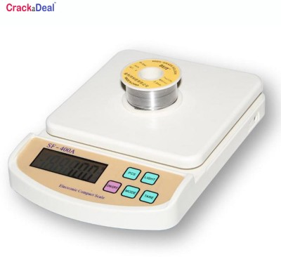 Crackadeal Digital 10 Kg Electronic Weighing Scale(Off-White) at flipkart