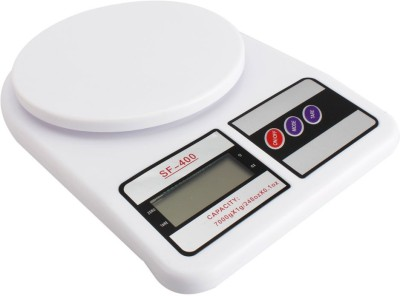 E-DEAL Digital 10 Kg X 1 gm Kitchen Multi-Purpose Weighing Scale(White)