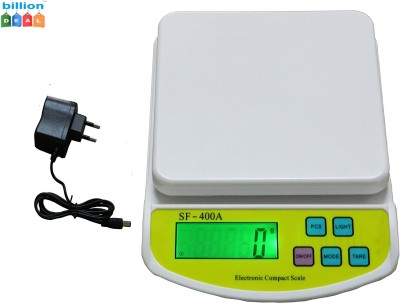 billion DEAL SF400A 10Kg with Adapter Digital Electronic Kitchen (OFF white ) Weighing Scale(OFF White) at flipkart