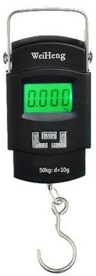 Gadget Hero's 50Kg Digital LCD Pocket Portable Hanging Kitchen Weight With Tare Weighing Scale(Black)  available at flipkart for Rs.295