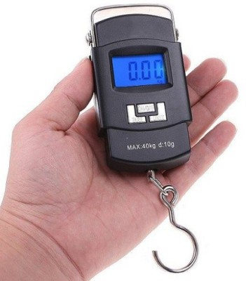 E-DEAL 40Kg Digital LCD Pocket Portable Hanging Kitchen Weight With Tare Weighing Scale(Black)