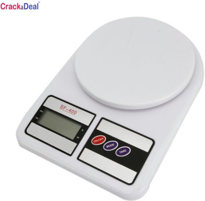CrackaDeal New Electronic Sf 400 7kg Weighing Scale(Off-White) at flipkart