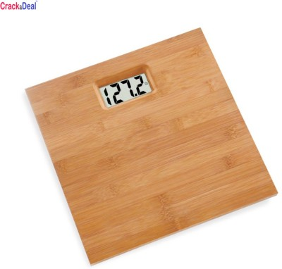 CrackaDeal Wooden Body Digital Square 100kg Personal Weighing Scale(Brown)