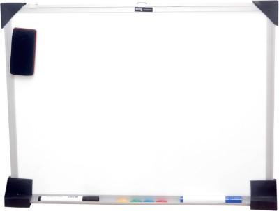 Chrome Regular Magnetic Medium Whiteboards and Duster Combos(Set of 1, White)