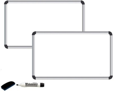 NECHAMS Non Magnetic 1.5ft x 2ft Whiteboards and Duster Combos(Set of 2, White)