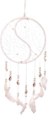 FashBlush Mystical Dream Catcher Wool Windchime(24 inch, White) at flipkart