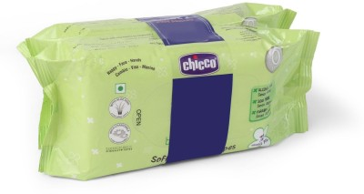 Chicco Bipack Soft Cleansing Baby Wipes, 144 Pieces
