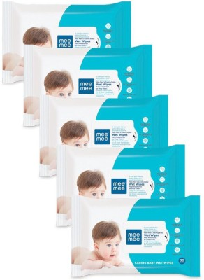MeeMee Baby Wet Wipes Pack of 5(150 Pieces) at flipkart