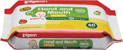 Pigeon Hand and Mouth Wet Tissues (60 Sheets)