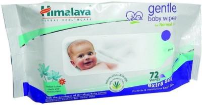Himalaya Herbals Gentle Baby Wipes (72 Sheets)