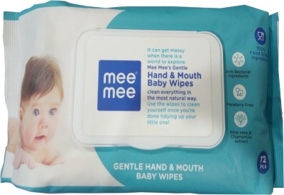 MeeMee Hand   Mouth Baby Wipes  72Pcs  MeeMee Baby Wipes