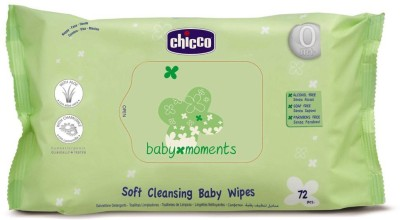 Chicco Cleansing Wipes(72 Pieces)  available at flipkart for Rs.175