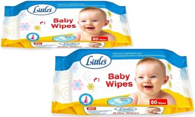 Chhote Janab Little's Soft Cleansing Baby Wipes  Pack of 2, 80 Wipes  2 Wipes