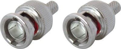 MX SDI BNC3474 SDI BNC Male Crimp type Connector for HD-SDI Cable & SDI CCTV Camera Wire Connector(Silver, Gold, Pack of 2)  available at flipkart for Rs.299