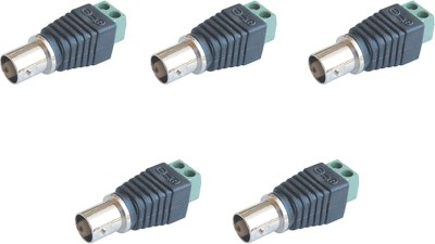MX s-016 f BNC Female Connector for CCTV Camera Cable dvr Wire Connector(Black, Green, Pack of 5)  available at flipkart for Rs.209