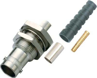 MX SDI BNC3522 SDI BNC Female Crimp type Connector for HD-SDI Cable & SDI CCTV Camera Wire Connector(Silver, Pack of 1)  available at flipkart for Rs.249