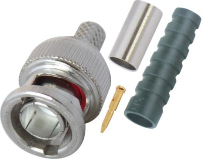 MX SDI BNC3474 HD SDI BNC Male Crimp type Connector for HD-SDI Cable & SDI CCTV Camera Wire Connector(Silver, Pack of 1)  available at flipkart for Rs.170