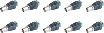 MX S-016f BNC Female for CCTV Cables wires and dvr Wire Connector(Black, Green, Pack of 10)  available at flipkart for Rs.299