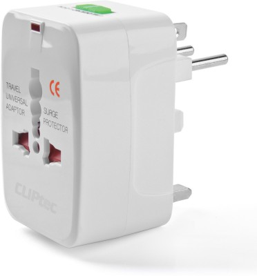 Cliptec GZJ130WH Worldwide Adaptor White Cliptec Laptop Accessories