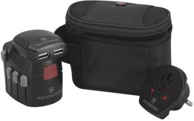 Victorinox grounded Plug with usb charger Worldwide Adaptor Black Victorinox Laptop Accessories