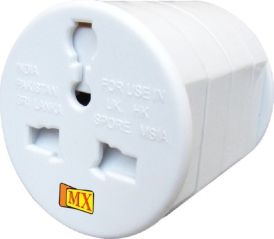 MX UNIVERSAL POCKET TRAVEL CHARGER Worldwide Adaptor White, Black