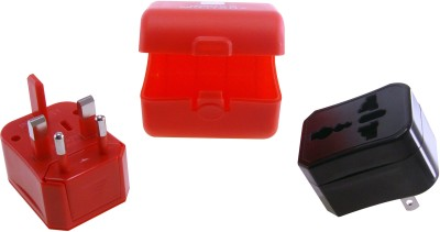 SWISS MILITARY TRAVEL ADAPTER PREMIUM ABS FINISH Worldwide Adaptor Red SWISS MILITARY Laptop Accessories