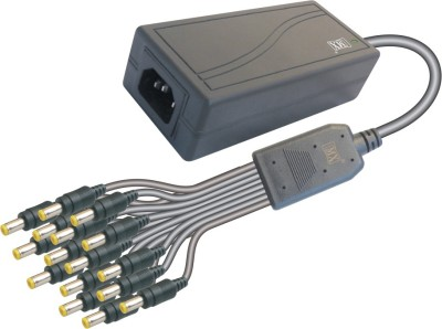 MX CCTV Camera Power supply Input 220 Volts AC to Output 12 Volts DC   6 Amperes Worldwide Adaptor Black