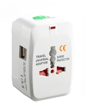 99 Gems Universal Dual USB Worldwide Adaptor White 99 Gems Laptop Accessories