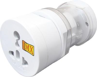 MX Universal Pocket Travel Power Charger Multi-Plug, AU/EU/UK/US/CN Worldwide Adaptor(White)