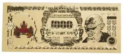 Odisha Bazaar Sri Lakshmi Ganesha Saraswati Currency Note For Puja Gift  Showpiece Gold, Brass Yantra(Pack of 1)