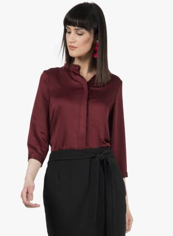 Women Solid Formal Shirt