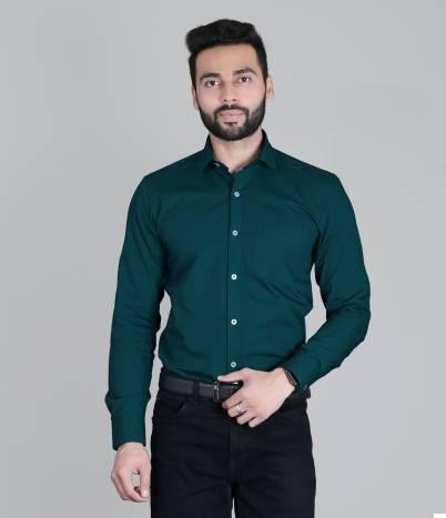 5TH ANFOLDMen Slim Fit Solid Slim Collar Formal Shirt