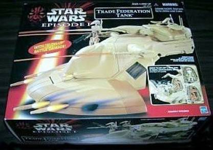 Hasbro Star Wars Episode I Trade Federation Tank With Blow-Up Battle Damage