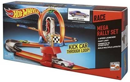 HOT WHEELS RACE MEGA RALLY TRACK SET - BGJ09