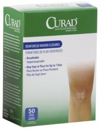 """Curad Sterile Medi-Strips, 1/2"""" x 4"""", White (Pack of 1200) Adhesive Band Aid"""