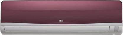 LG 1 Ton 3 Star Split AC  - Wine Red