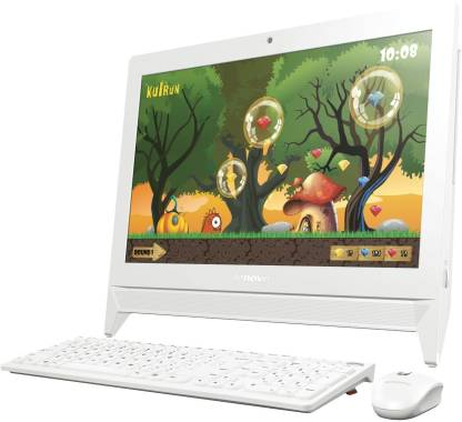 "Lenovo AIO Celeron Dual Core (2 GB DDR3/500 GB/Windows 10 Home/512 MB/19.5 Inch Screen/c2000 (F0BB00CEIN)(CDC/2 GB/500 GB/ 19.5""/ WINDOWS 10/WHITE))"