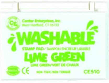 Center Enterprise CE510 Washable Stamp Pad, Lime