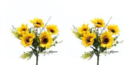 Kusal Bushes Yellow Sunflower Artificial Flower