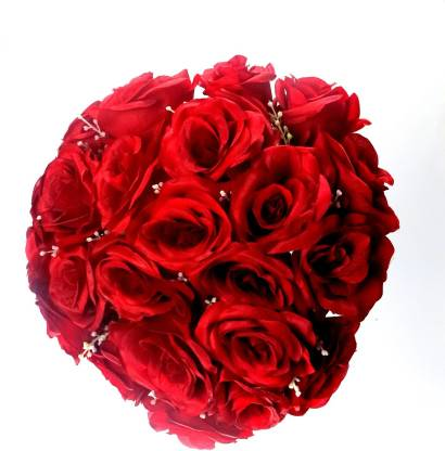 Importwala Red Rose Artificial Flower