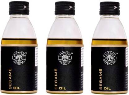Ayurveda Essentials 100% Pure, Natural and Cold Pressed Sesame Oil 100 ml x 3 offer