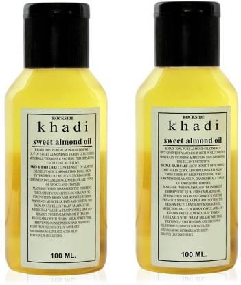 Rockside Khadi Sweet Almond Oil Pack of 2