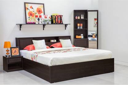 HomeTown Tiago Engineered Wood King Box Bed Finish Color   Wenge