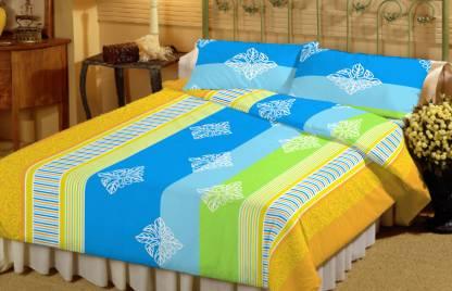 Dreamscape 144 TC Cotton Double Floral Bedsheet